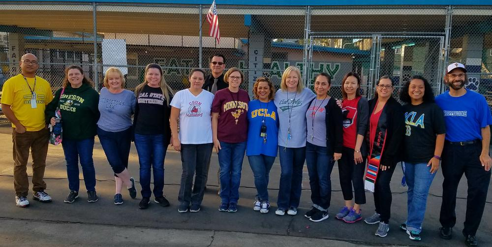 College Spirit Day at Langdon on 10-2-17