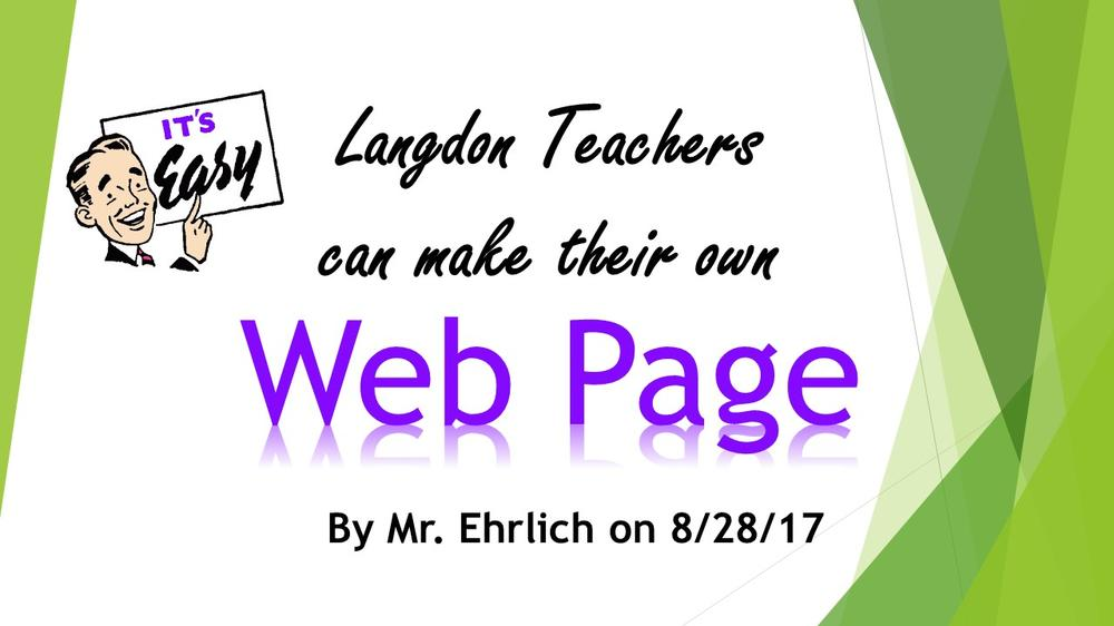 Make your own web page handouts